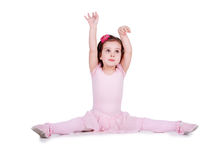 Little dancer. Little ballet dancer isolated on a white background royalty free stock photo