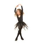 Little dancer girl twirl. Isolated on white background stock photos