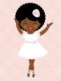Little dancing ballerina. A vector illustration of a little dancing ballerina Stock Photo