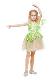 Little dancing fairy girl Royalty Free Stock Photos