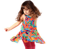 Little dancing girl Royalty Free Stock Photography