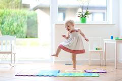 Little dancing girl Stock Images