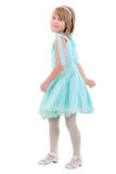 Little Dancing Girl. Side View. Royalty Free Stock Photos