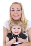 Little daughter with mother Stock Image