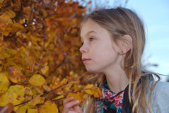 Little daydreamer girl Royalty Free Stock Photo