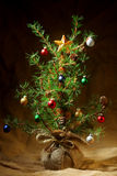 Little decorated Christmas tree Royalty Free Stock Images