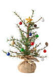Little decorated Christmas tree Stock Images