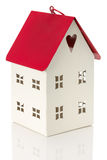 Little decorative house isolated on the white background Royalty Free Stock Photos