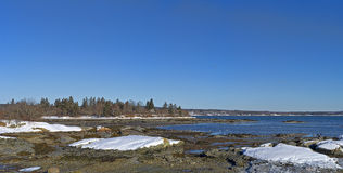 Little Deer Isle Maine Wintertime Royalty Free Stock Photos