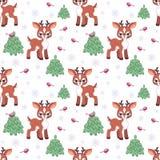 Little deer pattern Stock Image