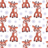 Little deer seamless pattern Royalty Free Stock Photography