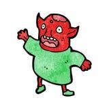Little demon cartoon Stock Images