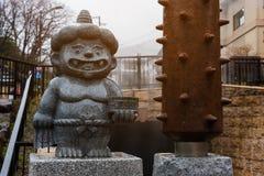 Little Demon Statue in Noboribetsu Royalty Free Stock Photos