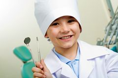 Little dentist Stock Images