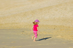 Little desert girl Stock Photos