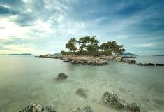Little desrt island Royalty Free Stock Photography