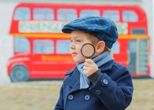 Little detective Stock Photo