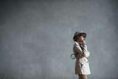 Little detective Royalty Free Stock Image