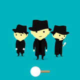 Little Detective Vector Illustration Royalty Free Stock Photo