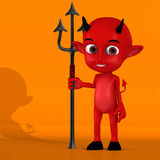 Little Devil #02. With Clipping Path / Cutting Path Stock Photography