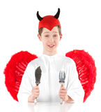 Teenager dressed as the Devil Royalty Free Stock Photography