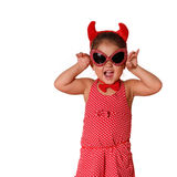 Little Devil. Young Girl With Attitude dressed as the Devil royalty free stock photos
