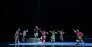 """The little devil apprenticeship-Children's Beijing Opera""""Yue teenager"""". The story happened in the history of the Northern Song Dynasty, the people in stock photography"""