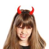 Little devil girl Royalty Free Stock Image