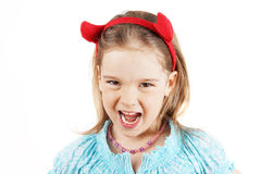 Little devil girl Stock Photo
