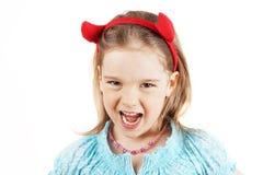 Little devil girl Stock Photo