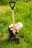 Little diger Royalty Free Stock Photos