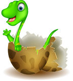 Little dinosaur birth Royalty Free Stock Images