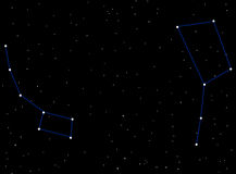 Little Dipper and Big Dipper Royalty Free Stock Photos