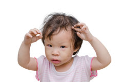 Little dirty asian girl Royalty Free Stock Photos