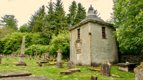 Little disused chapel in a  country graveyard. Little disused chapel in a derelict country graveyard Royalty Free Stock Photography