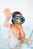 Little diver Royalty Free Stock Photo