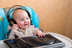 Little DJ Royalty Free Stock Photos