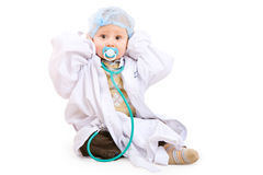 Little doctor on the floor Stock Image