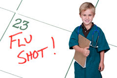 Little Doctor Flu Shot Stock Photography
