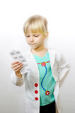 Little doctor royalty free stock image