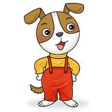 Little dog. Standing and smiling Stock Photo