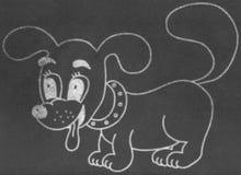 Little dog on chalkboard Royalty Free Stock Photo