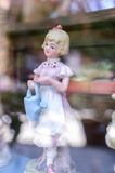 Little doll retro. Small doll vintage image lady Royalty Free Stock Images