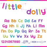 Little Dolly funny kid font Royalty Free Stock Photography