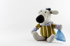 The Little Donkey. An isolated donkey toy in a white background Royalty Free Stock Photos
