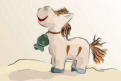 Little donkey - vector illustration Stock Photo