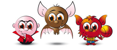 Little drac bat and wolfie Stock Photos