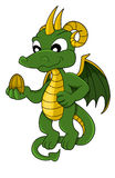 Little dragon cartoon Royalty Free Stock Images