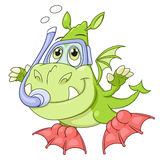 Little dragon is diving Royalty Free Stock Photos