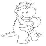 The little dragon plays mascot Stock Photos